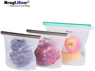 REUSABLE Silicone Food Storage Bags for Lunch boxes& bags,Ziplock Sealed Food Bag Keep Your Food Fresh Sous Vide, Lunch, Snack, Sandwich, Freezer100% Silicone for BPA-Free/Safe Food bags